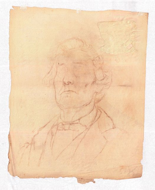 famous painting Unfinished male portrait of Theodore Clement Steele