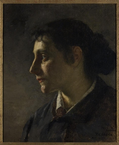 famous painting Unknown Munich Woman of Theodore Clement Steele