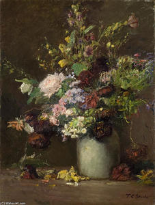 Theodore Clement Steele - Untitled (A Vase of Flowers)