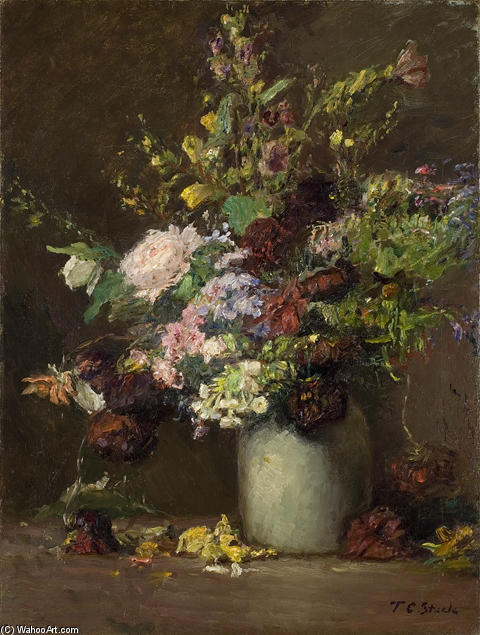 famous painting Untitled (A Vase of Flowers) of Theodore Clement Steele