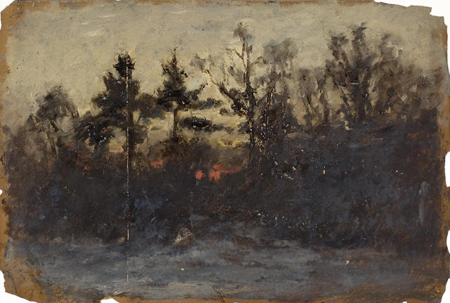 famous painting Untitled landscape 2 of Theodore Clement Steele