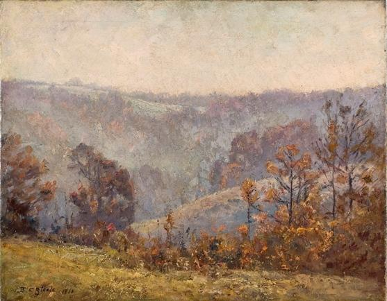 famous painting Valley Scene (Late November) of Theodore Clement Steele