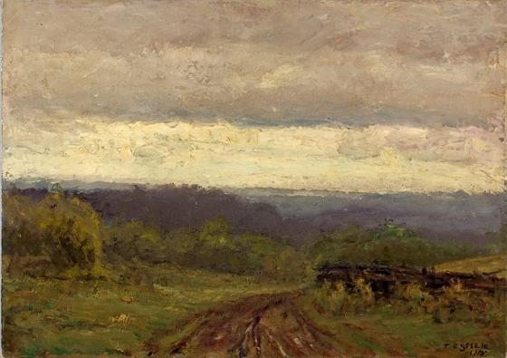 famous painting Valley View of Theodore Clement Steele