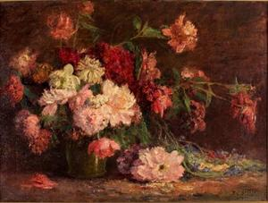 Theodore Clement Steele - Vase of Flowers