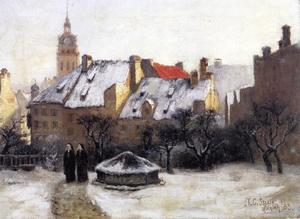 Theodore Clement Steele - Winter Afternoon - Old Munich