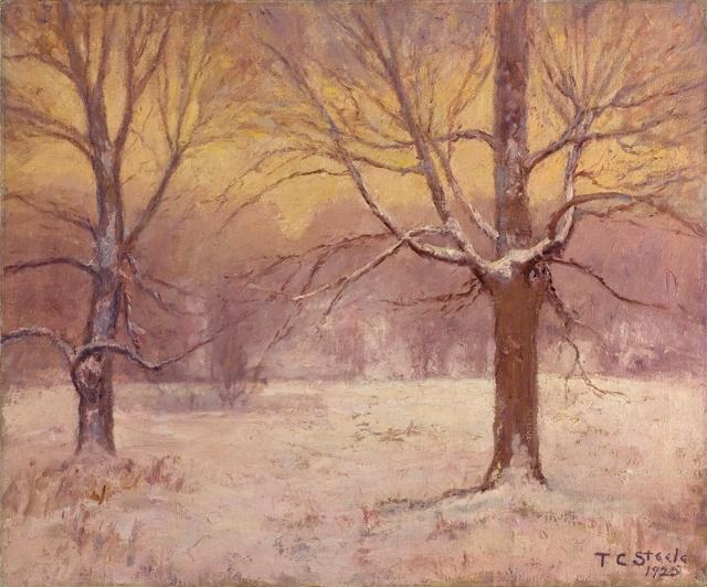 famous painting Winter Afternoon, Jordan Field of Theodore Clement Steele