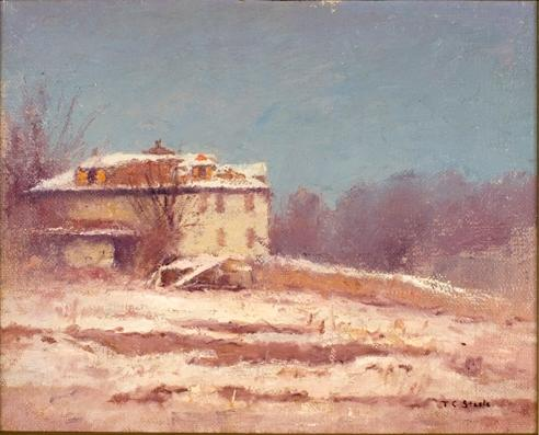 famous painting Winter Scene 1 of Theodore Clement Steele