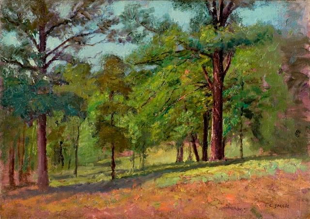 famous painting Wooded Slope (The Hill Slope, Midsummer) of Theodore Clement Steele