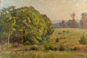 Theodore Clement Steele - Woodland Field (The Oaks - Rainy Day)