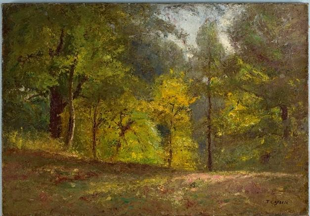 famous painting Woodland Scene (Forest Interior) 1 of Theodore Clement Steele