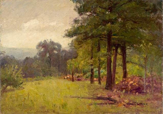 famous painting Woodland Scene (Midsummer Afternoon) of Theodore Clement Steele