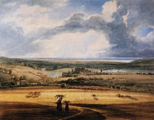Thomas Girtin - Alnwick Castle from Brizlee, Northumberland
