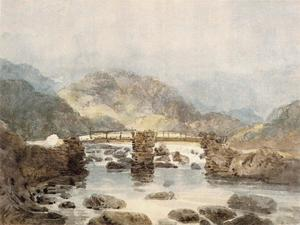 Thomas Girtin - Bridge near Beddgelert (Snowdonia)