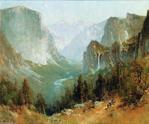 Thomas Hill - Yosemite Valley from Inspiration Point