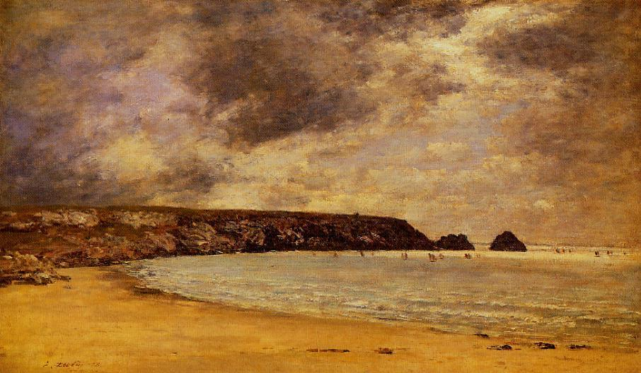 famous painting Camaret, the Bay of Eugène Louis Boudin
