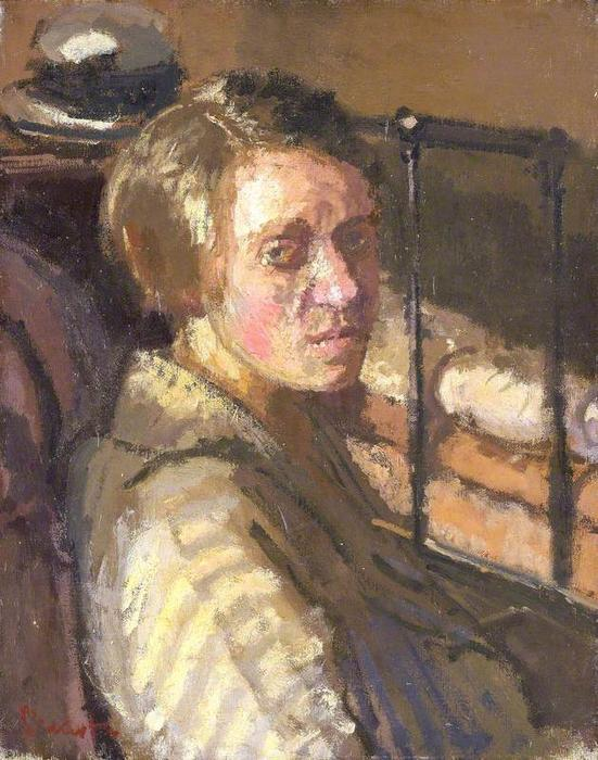 famous painting Camden Town Portrait of Walter Richard Sickert