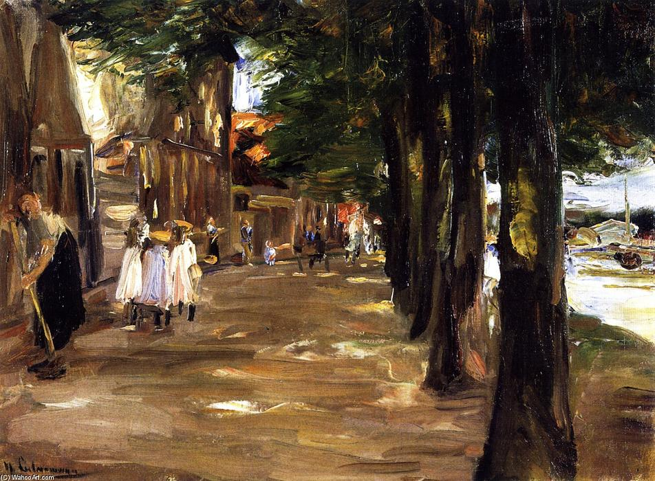 famous painting Canal in Edam of Max Liebermann