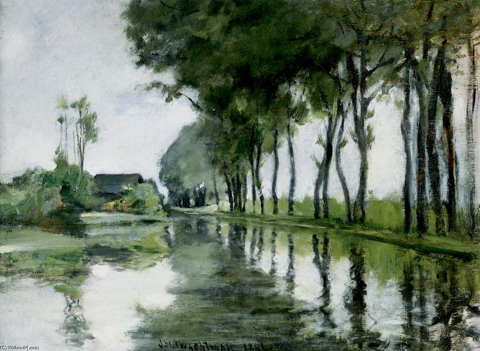 famous painting Canal Scene, Holland of John Henry Twachtman