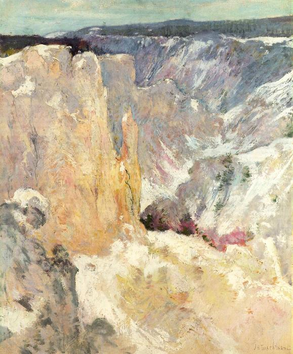 famous painting Canyon in the Yellowstone of John Henry Twachtman