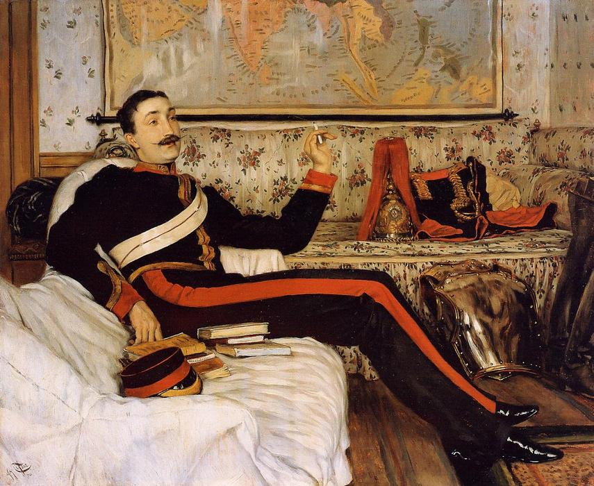 famous painting Captain Frederick Gustavus Burnaby of James Jacques Joseph Tissot