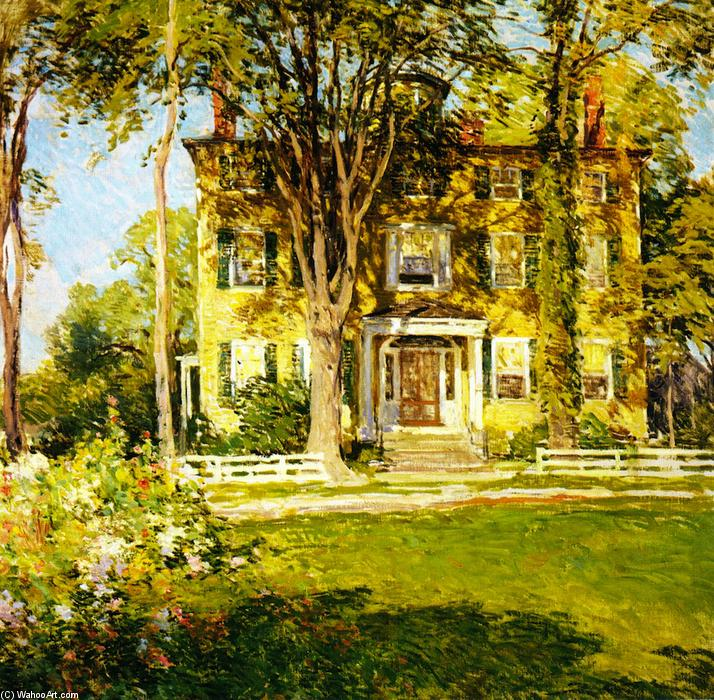 famous painting Captain Lord House, Kennebunkport, Maine of Willard Leroy Metcalf
