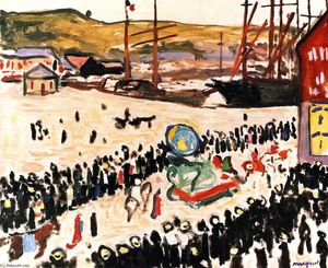 Albert Marquet - Carnival on the Beach (also known as Carnival at Fécamp)