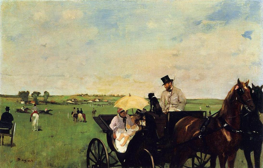 famous painting A Carriage at the Races of Edgar Degas