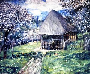 Frederick Carl Frieseke - The Carriage House (also known as Normandy Cottage)