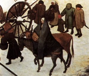 Pieter Bruegel The Elder - The Census at Bethlehem (detail)