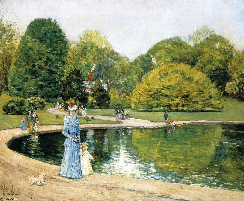 famous painting Central Park of Frederick Childe Hassam