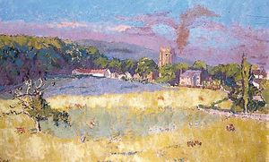 Walter Richard Sickert - Chagford, Devon, across Fields
