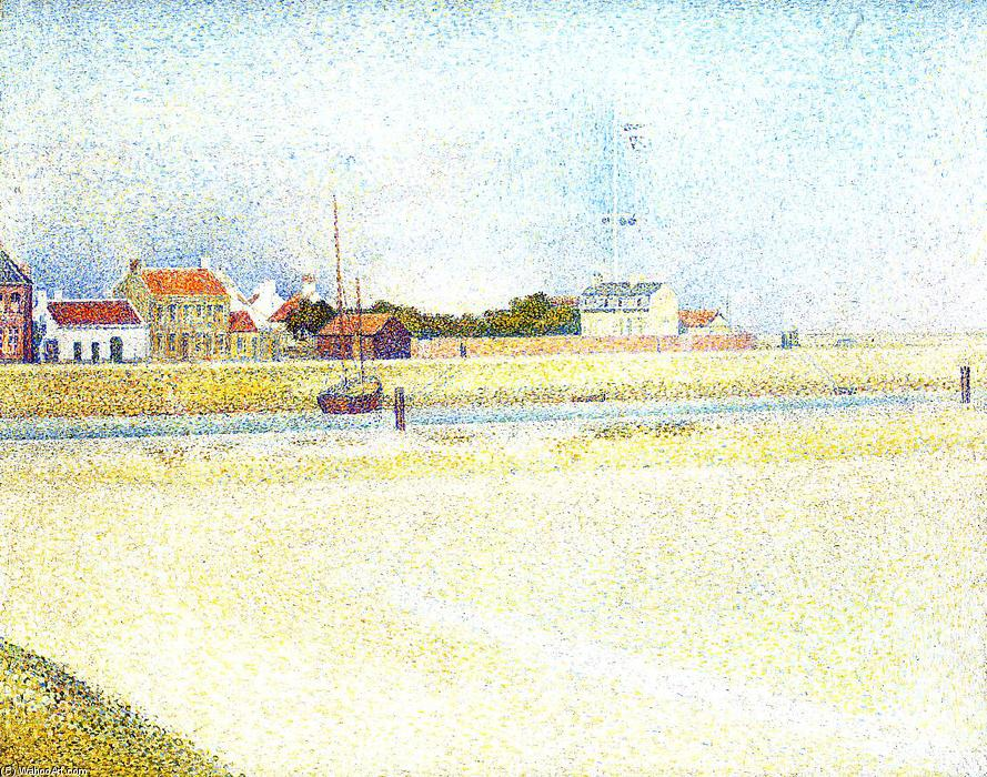 famous painting The Channel at Gravelins, Grand-Fort-Philippe of Georges Pierre Seurat