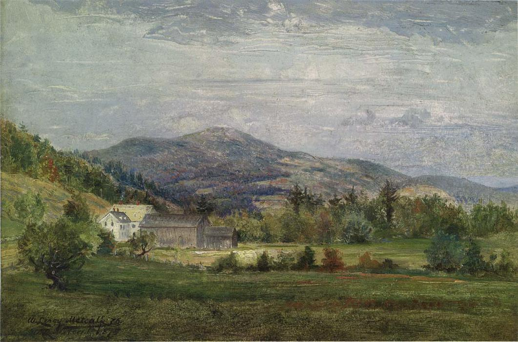 famous painting Chase's House, New Hampshire of Willard Leroy Metcalf
