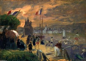 William James Glackens - Château-Thierry (study)