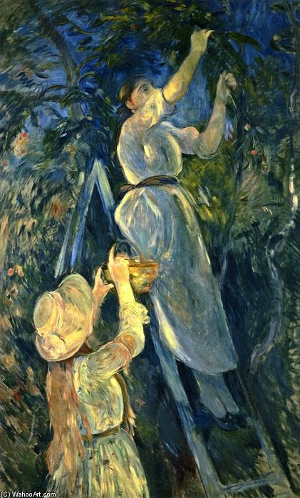 famous painting The Cherry Tree of Berthe Morisot