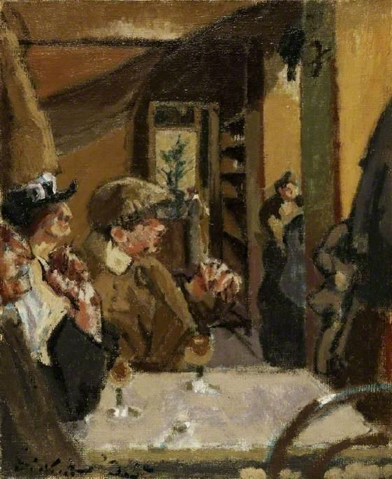 famous painting Chez Vernet of Walter Richard Sickert