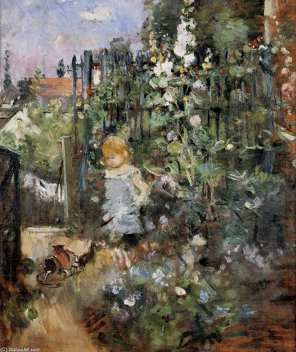famous painting Child in the Rose Garden of Berthe Morisot