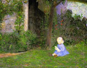 Lilla Cabot Perry - Child in a Walled Garden, Giverny