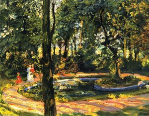 Max Slevogt - Children by the Pond - The Garden in Godramstein