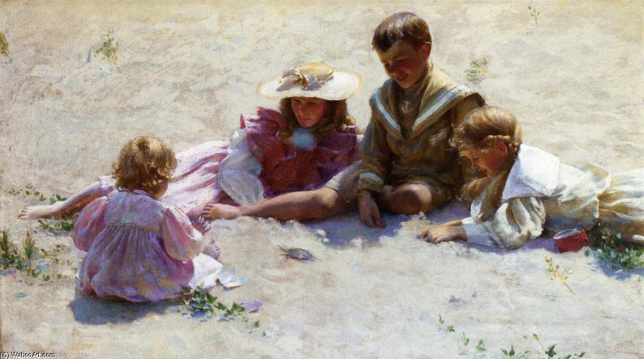 famous painting Children by the Seashore of Charles Courtney Curran