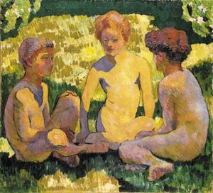 Giovanni Giacometti - Children In The Sun
