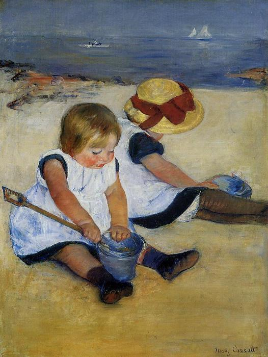 famous painting Children on the Shore of Mary Stevenson Cassatt