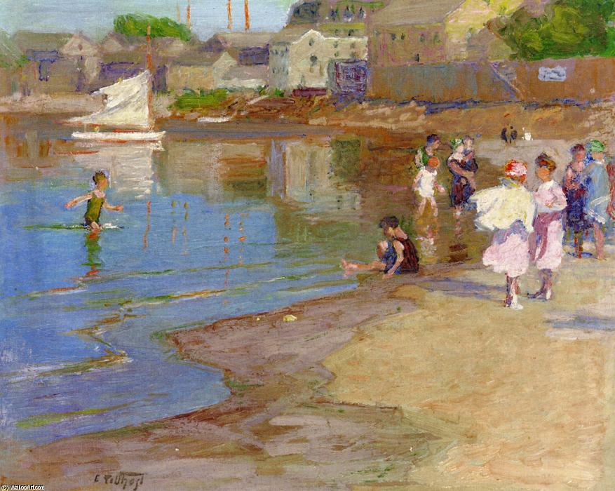 famous painting Children Playing at the Beach of Edward Henry Potthast
