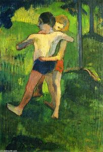 Paul Gauguin - Children Wrestling