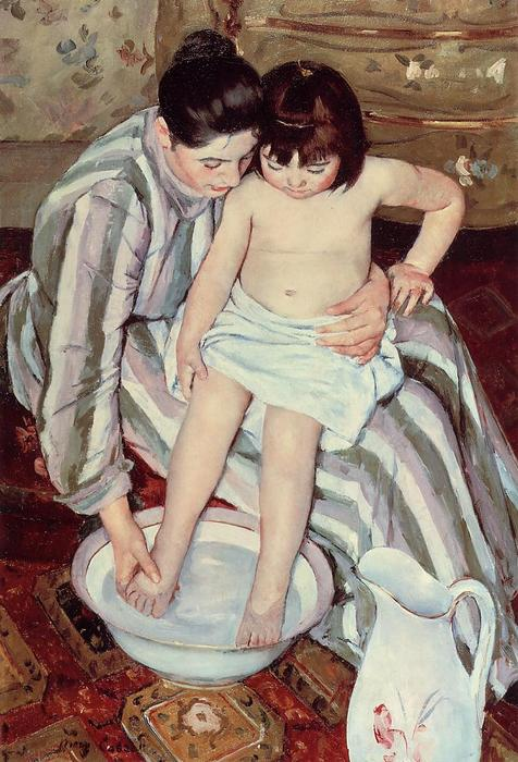 famous painting The Child's Bath of Mary Stevenson Cassatt