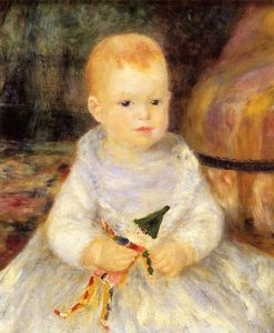 Pierre-Auguste Renoir - Child with Punch Doll (also known as Pierre de la Pommeraye)
