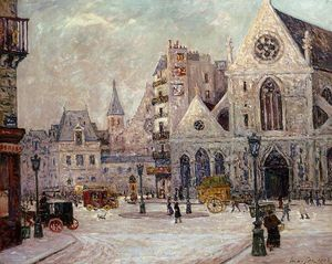 Maxime Emile Louis Maufra - The Church of Saint Nicolas of the Fields, rue Saint Martin