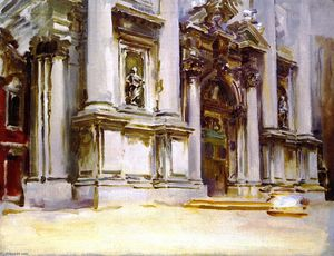 John Singer Sargent - The Church of San Stae, Venice (also known as The Church of the Gesuiti, Venice)
