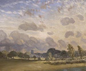 George Clausen - Clavering Church