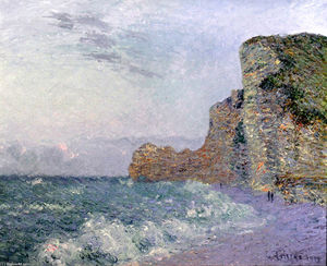 Gustave Loiseau - Cliffs in Normandy - Evening